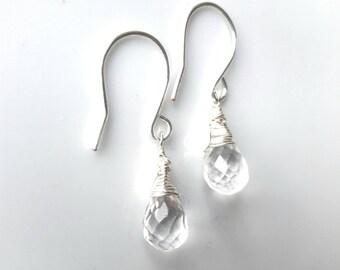 Earrings Rock Crystal Drops
