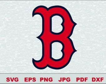 Boston Red Sox Svg, DFX  Eps,  Vector, Cut File Silhouette Studio Cameo Cricut Design Template Stencil Vinyl Decal