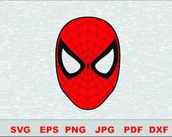 Spiderman  SVG Svg DFX  Eps Vector Cut File Silhouette Studio Cameo Cricut Design Template Stencil Vinyl Decal