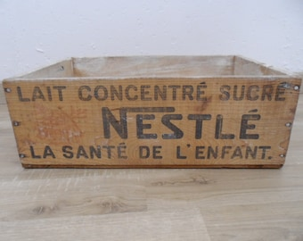 NESTLE advertising crate