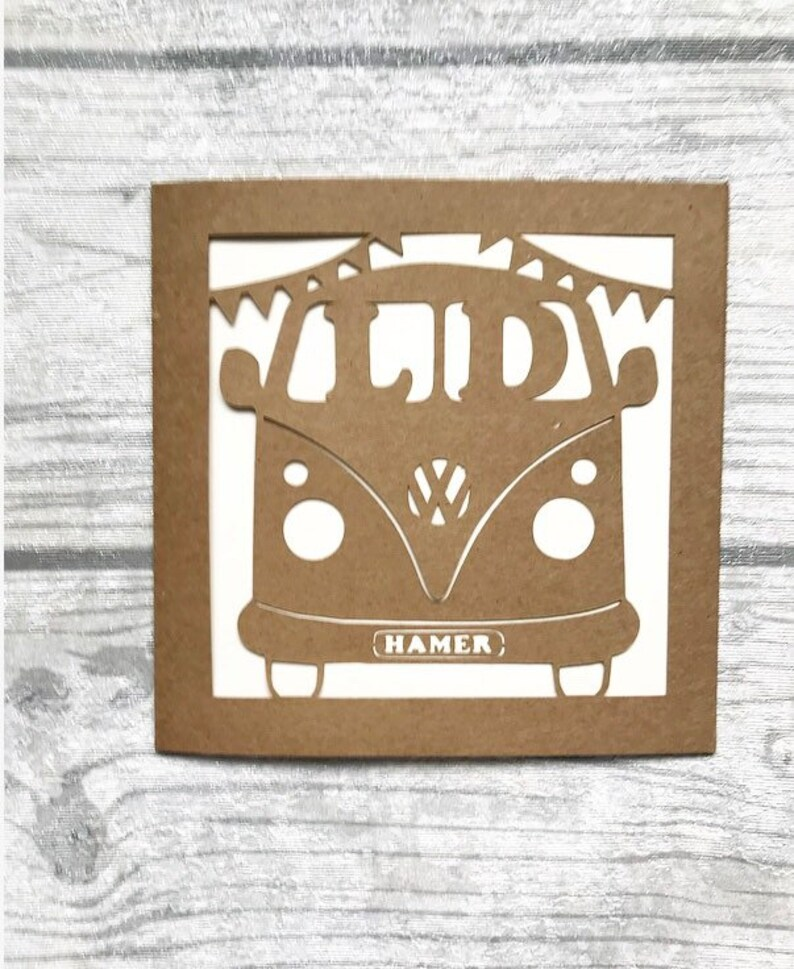 49986bd178 Vw camper wedding card vw van personalised campervan card