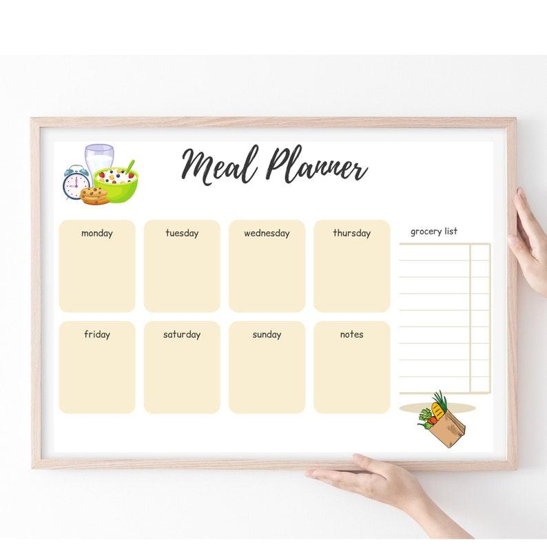 Printable + Editable Weekly Meal Planner Template {Downloadable Meal Planner}