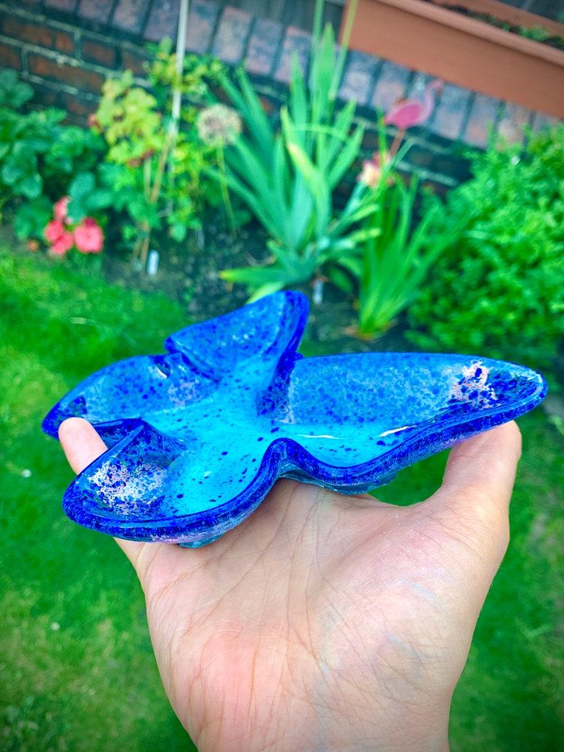 Handmade Resin Butterfly Glitter Trinket Dish Keepsake Tray gift daughter niece girlfriend wife