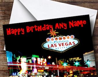 vegas birthday card etsy