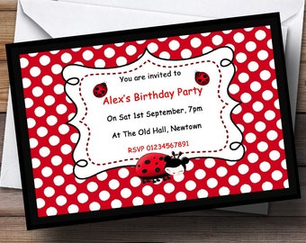 Ladybird invitation etsy ladybird theme personalised birthday party invitations solutioingenieria Gallery