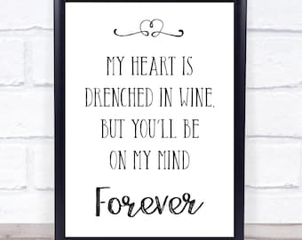 Norah Jones Don't Know Why Song Lyric Quote Print