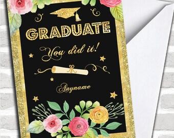 Sparkle Celebrate Personalised Graduation Card