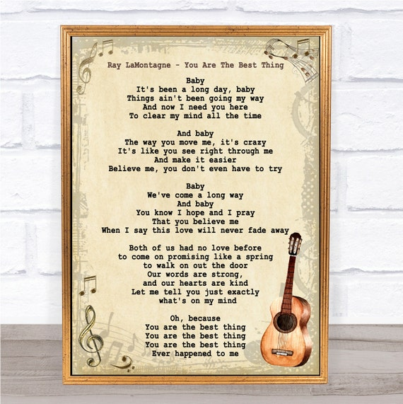 Ray Lamontagne You Are The Best Thing Song Lyric Vintage Quote Etsy