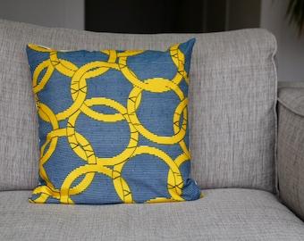 """Cushion cover - wax africain fabric  """"Olympics"""""""