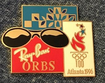 31d9e9bcf4037 Ray-Ban Sun Glasses Pin ~ ORBS ~ 1996 Olympics ~ Atlanta Summer Games