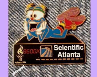 1679726dce 1996 Olympic Pin ~ Mascot IZZY ~ Sponsor ~ Scientific Atlanta ~ Media  Communication