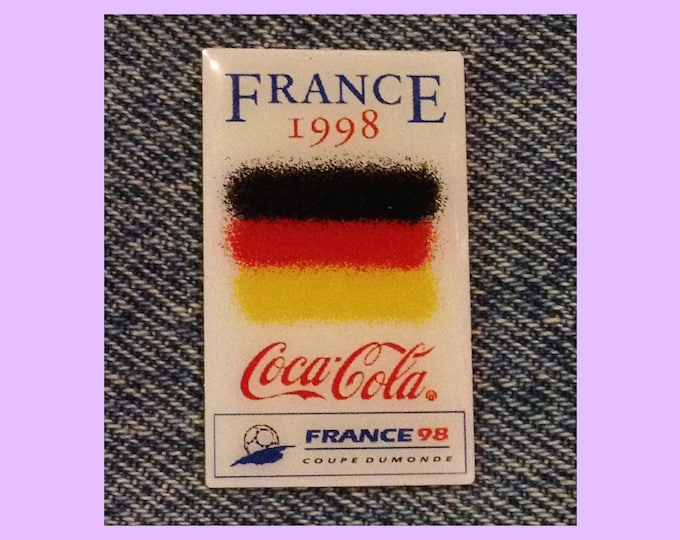 ab9498deb88 1998 World Cup Soccer ~ Football Pin ~ Flag ~ Germany ~ Coca Cola ~ Coke