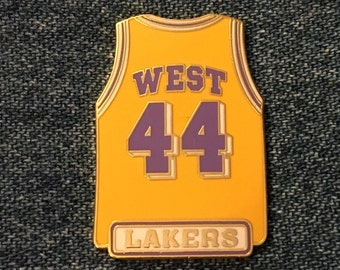 000d0791460 1998 Los Angeles Lakers~ Jerry West ~ #44 ~ Jersey Lapel Pin ~ LA ~ NBA ~  by Peter David