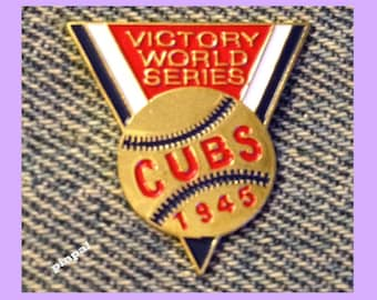 Chicago Cubs Lapel Pin~MLB~1945 World Series~Replica from 1990 Collection Set by Unocal