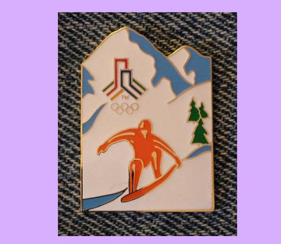 Snowboard Olympic Pin ~ Early 1997 Release with Bid Logo for 2002 SLC Winter Games ~ Salt Lake City