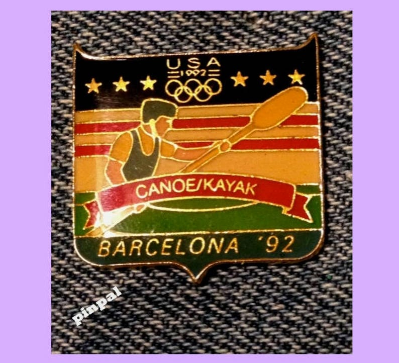 Helpful Olympic Pins 1996 Atlanta Georgia Usa Usa Canoe Kayak Team Usa Noc Country Atlanta 1996