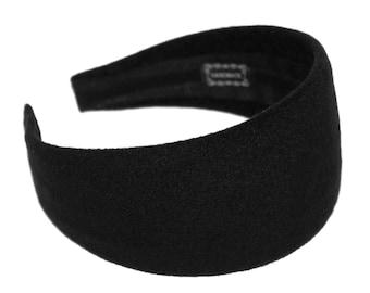 Black Cashmere Headband Wide Headbands for women Winter Headband Adult Head  scarf Blair Waldorf no hard 741ac3b88bb