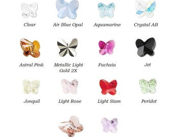 089c809145 12 Swarovski® Crystal faceted butterfly 6x5mm Beads 5754, 12 faceted butterfly  swarovski crystal 5754 beads 6x5mm, swarovski butterfly 5754