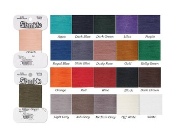 Whi Silk Replacement for hand sewing N.B.T.-Waxed Silamide Skeins Thread-Nylon
