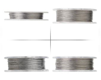 1 Roll Nylon Coated Stainless Steel Beading Wire Soft Flex Choice Hight DIY 100M