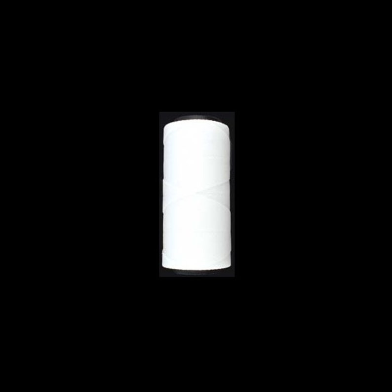 2 play 157 yards White Brazilian Waxed Polyester Cord 1mm