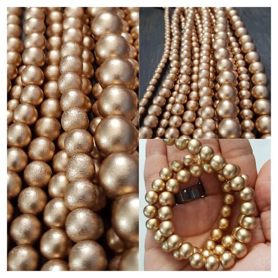 Wood Round Beads Black 6mm 16 Inch Strand