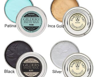 Gilders Paste® Wax paste, Gilders paste wax 1 ounce canister, gilders wax paste 30 ml canister, 28 colors gilders paste wax canister 1 ounce