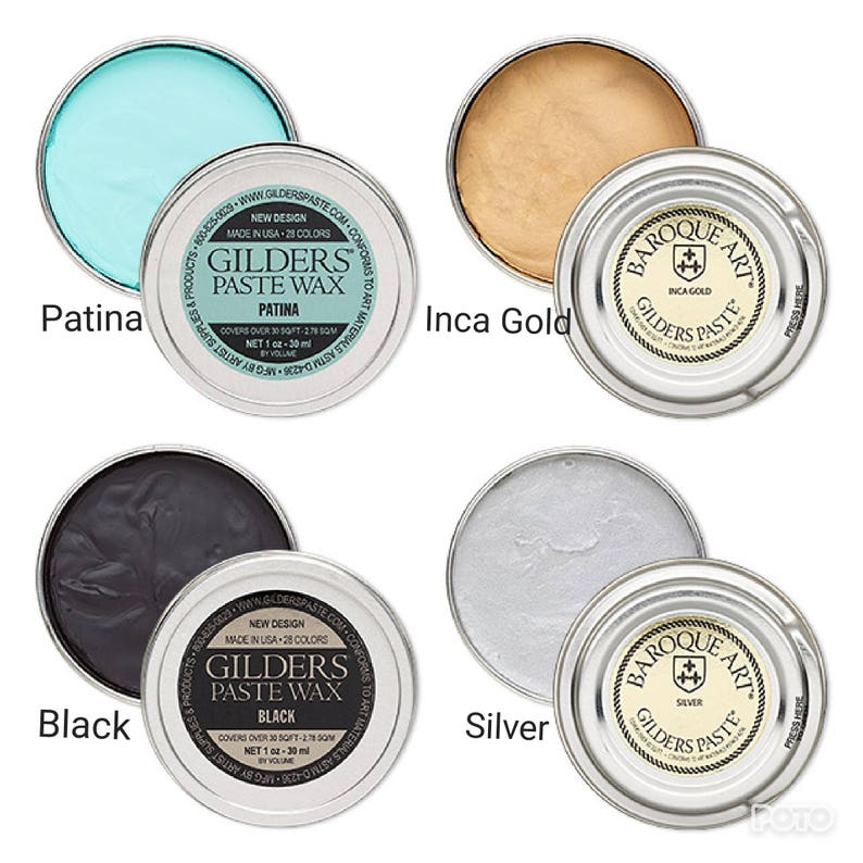 Gilders Paste® Wax paste Gilders paste wax 1 ounce canister image 0