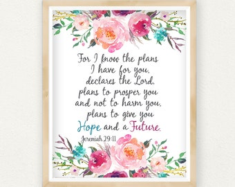 For I Know The Plans Etsy