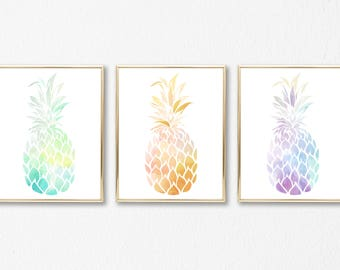 Attirant Three Pineapple Print Set, Printable Pineapple Wall Art, Pineapple Art, Pineapple  Decor Kitchen, Pineapple Decor, Summer Art, Office Decor