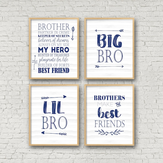 Lil Bro Big Bro Brothers Make The Best Friends Brother Etsy