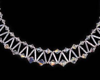 Swarovski & Bugle Net necklace