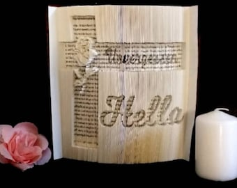 Notebook, folded book, gift idea, home accessories, grief
