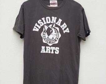 Rare Over The Stripes Japanese Brand  Crew Neck Shirt