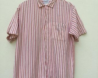 Rare! Vintage Sugar Cane Casual Sports Wear Button Down Shirt