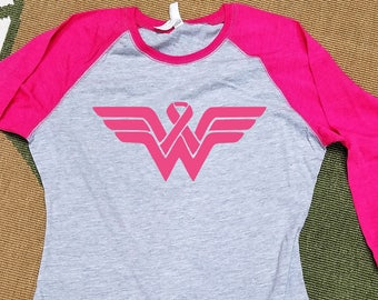 Breast Cancer Shirt | **FREE SHIPPING** | Wear Pink | Breast Cancer Awareness | Think Pink | Support Breast Cancer Awareness | Pink Raglan