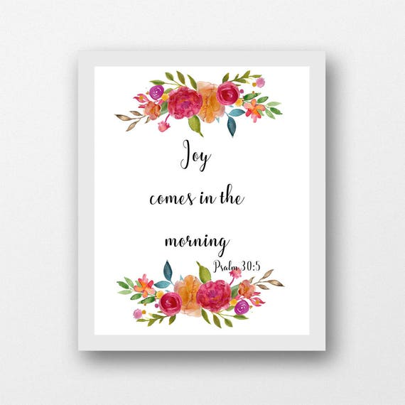 Psalm 305 Joy Comes In The Morning Encouraging Scripture Etsy