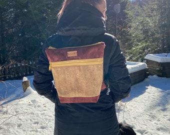 Nini cork gold backpack