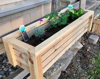Wooden Planter // Cedar Garden Box // Planter // Rectangular Planter