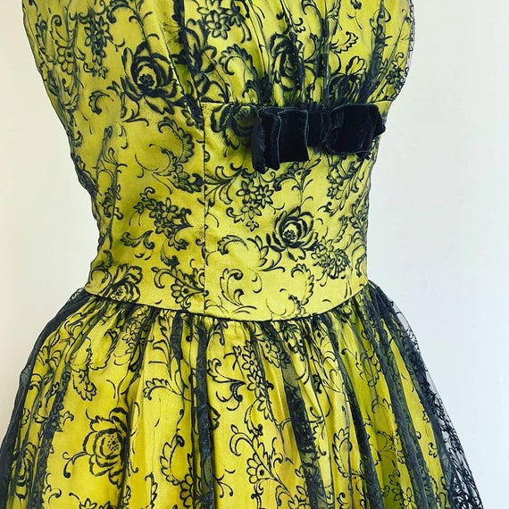 1950s evening dress - image 1