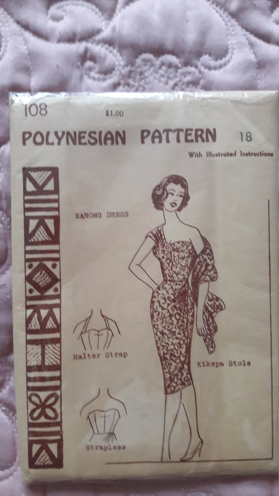 1950's ladies (unused) sarong dress pattern