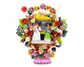 Arbol de la Vida quot Frida Kahlo quot - hand-potted Mexican Tree of Life, pottery artwork, ceramic art