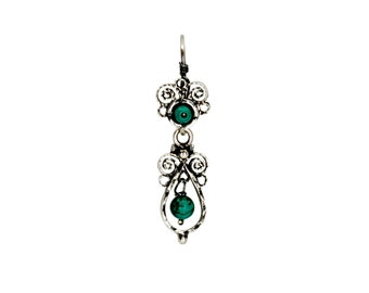 23950f92b1b7 Mexican Filigrana Silver Earrings with turquoise