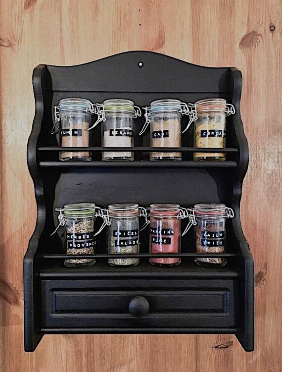 image 0 - Vintage Spice Rack Wooden Spice Rack Antique Spice Rack Etsy