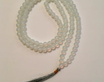 Opalite 108 Bead Mala Necklace