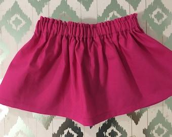 Fuchsia skirt / Baby Skirt / Girl Skirt / Toddler Skirt / Girl clothes / Baby Girl skirt / Baby Girl Outfit /  Girl Outfit / Pink skirt