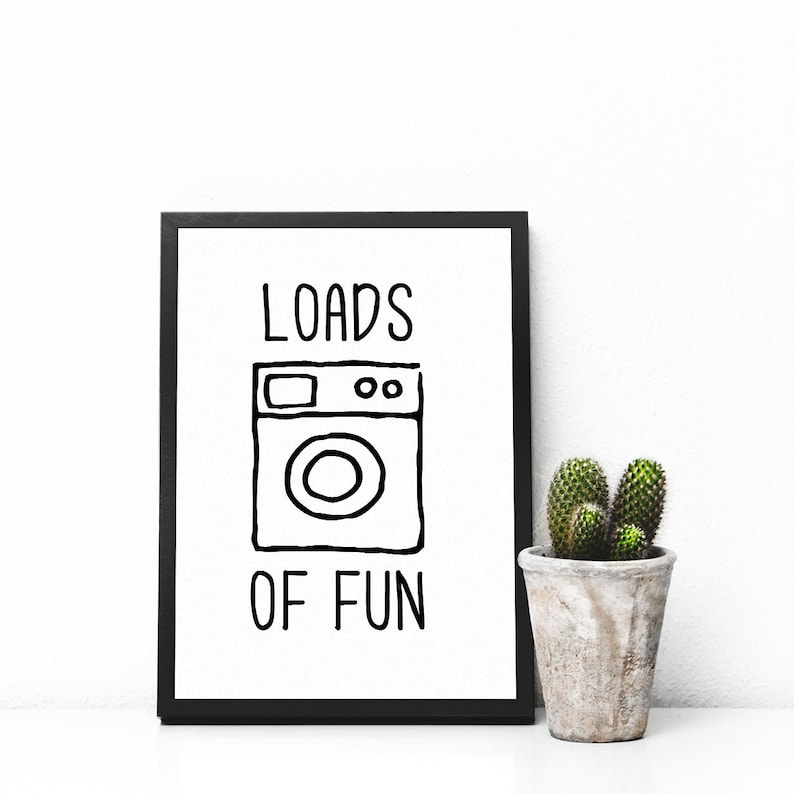 Funny Laundry Sign Laundry Room Wall Art College Apartment Decor Laundry Room Prints Washing Machine Prints College Student Gift Print