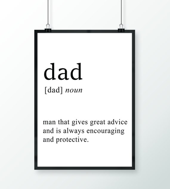 Father Print Room Home Wall Art Decor Gift Dad Definition Poster Unframed