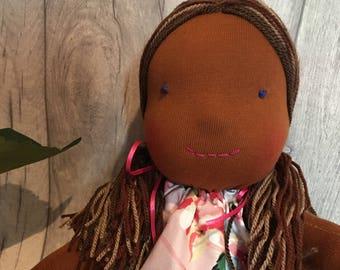 Mali Waldorf doll rag doll soft doll girly sweet soft toy handmade homemade ooak