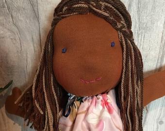 Maya Waldorf doll rag doll soft doll girly sweet soft toy handmade homemade ooak